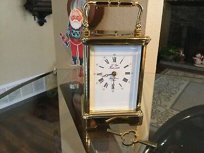 L'Epee French Carriage Clock Hour & 1/2 Striking Repeating Desk Clock
