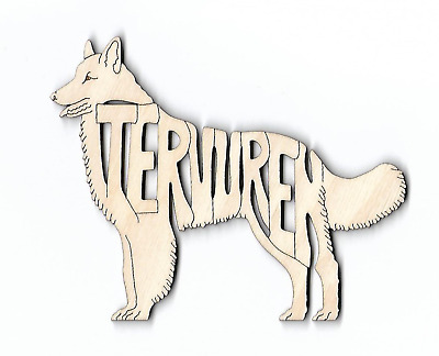 Belgian Tervuren Dog laser cut and engraved wood Magnet