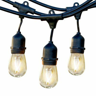 Brightech Ambience Pro LED Commercial Grade Outdoor Light Strand with Hanging So