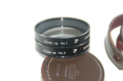 Nikon Close Up Filters No. 1 and No. 2 with Leather Cases