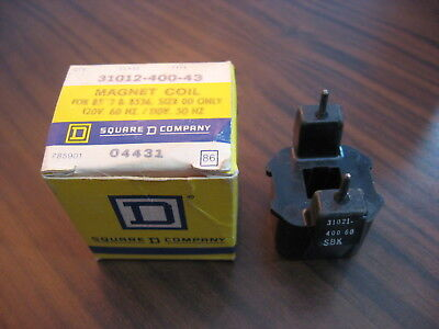 New Square D 31012-400-60 Operating Coil For 8501 Type G Relays (120 Volt)