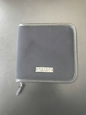 Coach CD Holder Black Zip-Around Holds 12 CD's