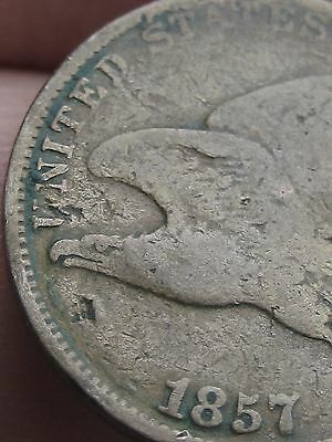 1857 Flying Eagle Penny Cent- VG Details, Full Date