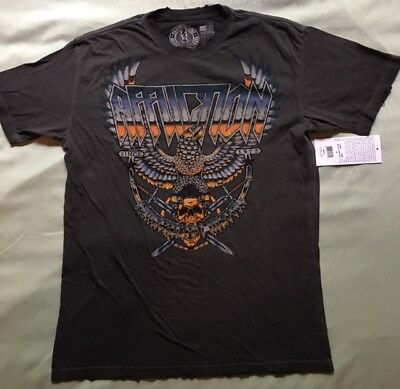 """Affliction Mens Short Sleeve 2Xl Xxl """"metal Storm"""" A10025 T Shirt New With Tags"""