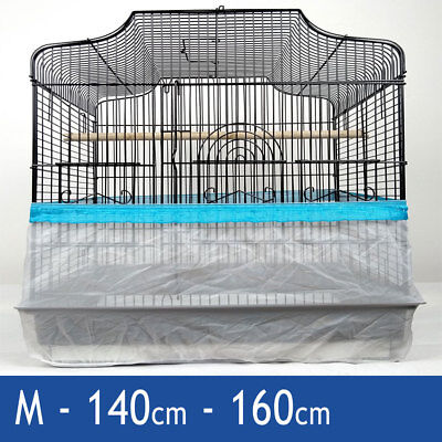 Blue Large 180cm Seed Catcher Guard Cage Tidy Mess Protection Pile Bird Parrot