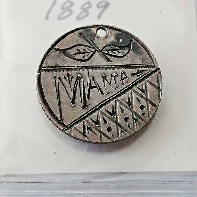 "#1305 - 1889 seated liberty dime Love Token. ""MAMA"""