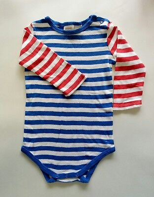 Seed Heritage Baby Boy Bodysuit Romper size 00 Long Sleeve Red White Blue Stripe