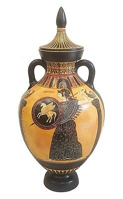Panathenaic Amphora Vase - Ancient Running Athenian Games -Winner Prize - Athena