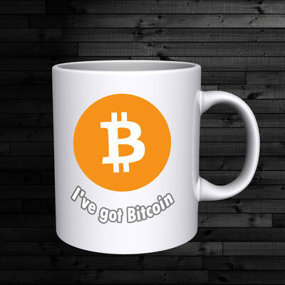 """ I've got Bitcoin"" Mug gift card with 0.0001 bitcoin  you can redeem  any time"