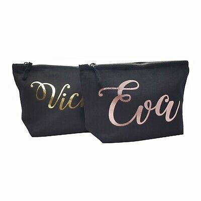 Personalised Make Up Makeup Bag With Any Name Christmas Present Mum Wife Gift