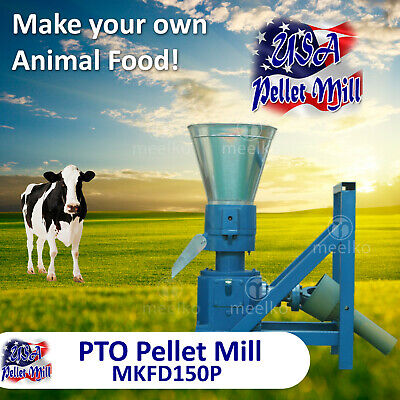 PTO  Pellet Mill For Cow's Food - MKFD150P - Free Shipping