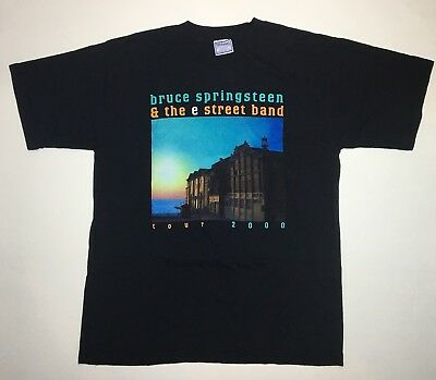 Bruce Springsteen And The E Street Band 2000 Tour T Shirt Large USA Rare Vintage