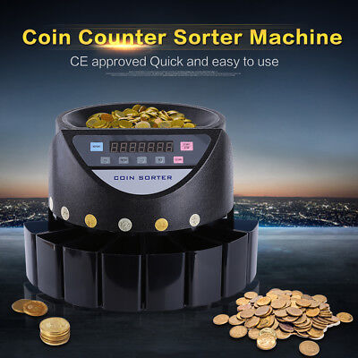 Coin Counter Australian Sorter Automatic Money Counting Machine Au Stock