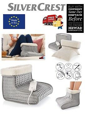 ELECTRIC FOOT WARMER FEET HEATER WITH 6 TEMPERATURE SETTINGS WASHABLE Made in EU