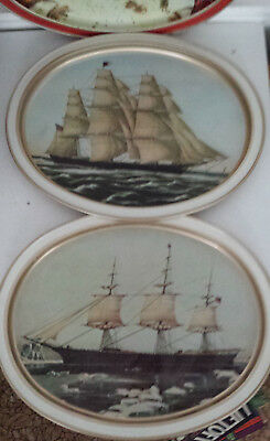 Sunshine biscuits tray Snow Montmartre Red Jacket Flying Cloud Clipper lot 3