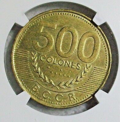 2003 COSTA RICA REPUBLIC 500 COLONES NGC MS-63 RARE SCARCE L@@k