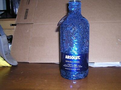 Absolut Vodka Holiday  SEQUIN 750ML bottle 2017 Limited Flip To Silver-Empty