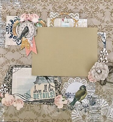 Premade Scrapbook Layout - 10% Off On Price