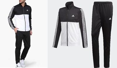 new adidas BACK 2 BASICS TRACK SUIT black white S M L XL Jacket Pants tracksuit