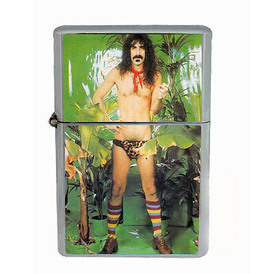 Frank Zappa Jungle Windproof Refillable Oil Lighter with Gift Box Art D 33