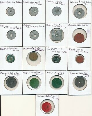 Lot of Sales Tax and Other Tokens - Utah, Missouri, IL, Iowa, Colorado, More