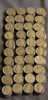 Lot Of 200 Buffalo Nickels Various Dates And Grades Unsearched