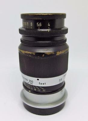 Vintage Leitz ELMAR Leica Screwmount Lens, f/4 90mm Germany M39