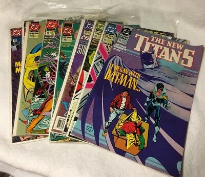 The New Teen Titans LOT of 9 DC Comics