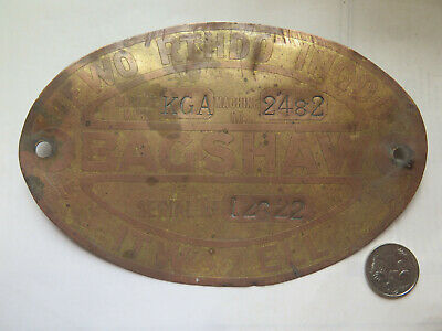 COPPER SIGN BAGSHAW FARM MACHINERY IF WORTH DOING DO IT WELL c1940 SOUTH AUST