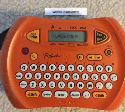 Brother P-Touch PT70 Personal Handheld Labeler USED bundle includes 1 cartridge