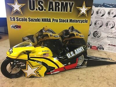1/9 Nhra Drag 2001 Pro Stock Bike Antron Brown Us Army