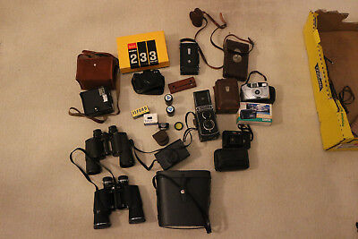 Vintage Camera Job Lot - Including Rollei Rolleicord TLR + MORE