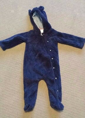 Baby boy Sprout winter fluffy jumpsuit – Size 00 – As New