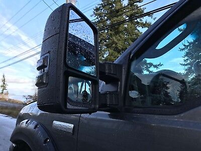 Fits 99-07 Ford Power+Heated+Smoked Signals Towing Tow Side View Mirror