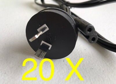 20 x 2 Pin Core Figure 8 IEC-C7 AC Power Cord Cable Lead Plug AU PS4 PS3 Wall