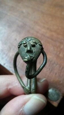 An old impressive Akan gold weight bronze, africa, Ex USA collection