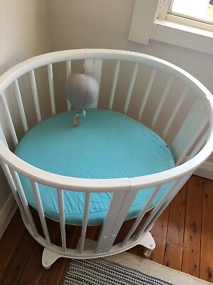 Stokke Mini Fitted Sheets Aqua Blue