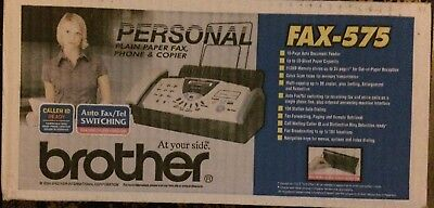 NEW ... Brother FAX-575 Personal Fax Phone and Copier Same day shipping
