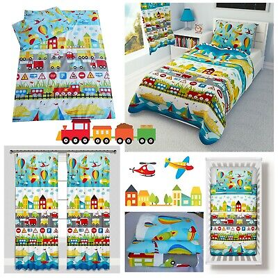 CARS TRAINS PLANES Bedding Set Duvet Covers for Cot/Cot bed/Toddler 100% COTTON