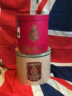 Vintage Christy's London Red Hat Box Shop Prop Retail Display Stand