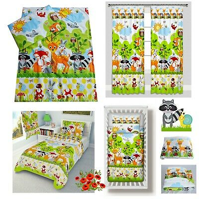 FOREST ANIMALS Bedding Set Duvet Covers for Cot/Cot bed/Toddler 100% COTTON