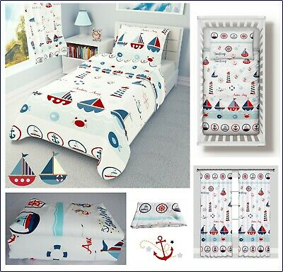 SEA BOATS Baby Bedding Set Duvet Covers for Cot/Cot bed/Toddler 100% COTTON