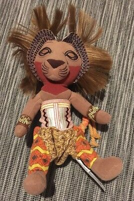 Disney Simba The Lion King Broadway Musical Collectable soft plush toy Used