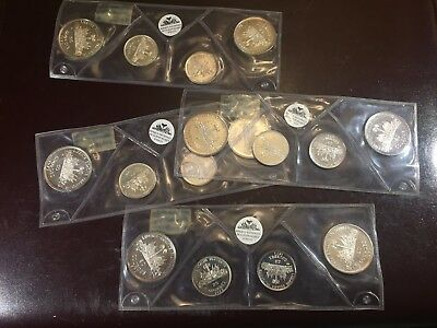 "(4 Proof sets) 1973 Haiti ""Fleurs de Coins"" Silver!"