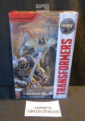 Hasbro Transformers The Last Knight Steelbane Premier Deluxe Class Edition figur