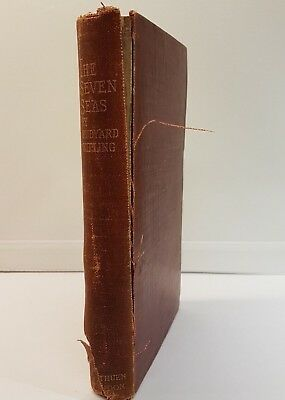 The Seven Seas by Rudyard Kipling Antique Book