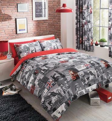 London City Duvet Cover Sets Or With Fitted Sheet Or Full Set Or Curtains