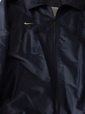 Nike Mens Full Zip Windbreaker Athletic Rain Jacket Navy Blue Size XL
