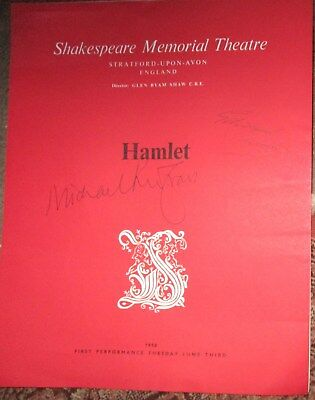 Edward Woodward Michael Redgrave SIGNED 1958 Shakespeare Theatre Programme -