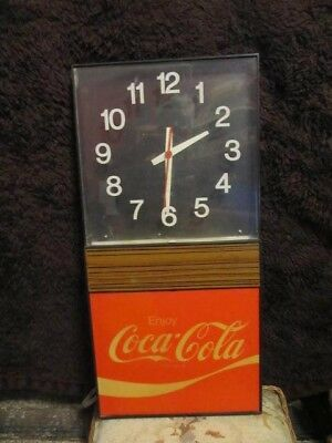 "Vintage Electric ""enjoy Coca-Cola"" Retro Clock - Works But Not Perfect"
